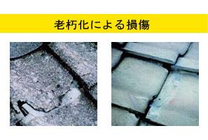 屋根(瓦)の老朽化による損傷